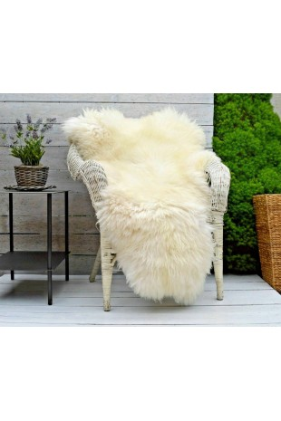White and Ivory Sheepskin...