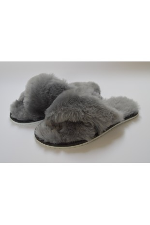 Sheepskin Slip On Flat Mule...