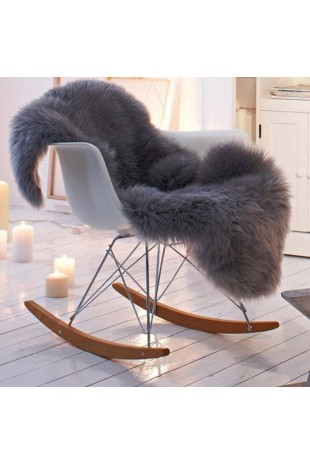 Luxury Grey Dyed Sheepskin Rug